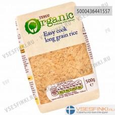 Рис Tesco органический пропаренный 500 гр