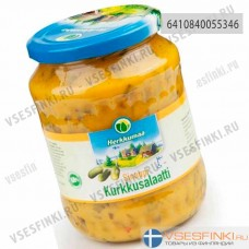 Салат Herkkumaa из огурцов с горчицей 700гр