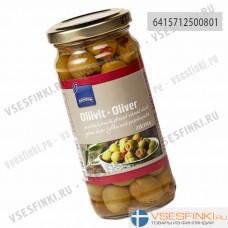 Зелёные оливки с паприкой Rainbow 235/142гр