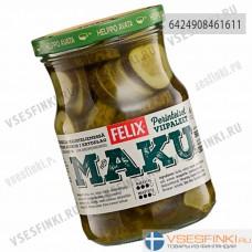 Огурцы Felix резаные маринованные 560/360 гр
