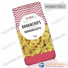 Банановые чипсы WAOW 150 гр