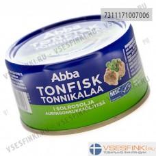 Тунец Abba в подсолнечном масле  200/150гр