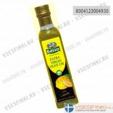 Оливковое масло Basso Extra Vergin Olive Oil с лимоном 250мл