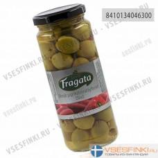 Оливки Fragata фаршированные перцем 335/200 гр