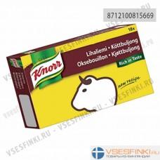 Knorr мясной говяжий бульон 180гр (18 кубиков)