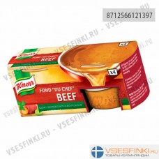 Knorr мясной говяжий бульон 112гр (4 желе капсул)