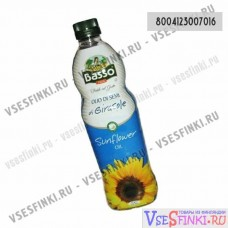 Подсолнечное масло BASSO SUNFLOWER 1 л