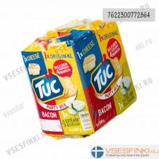 Крекеры LU Tuc микс (оригинал,сыр,бекон,сметана-лук) 400гр