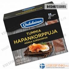 Хлебцы Oululainen ржаные темные  215 гр