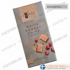 Шоколад Ichoc органический 80 гр.  Белый с нугой и криспами