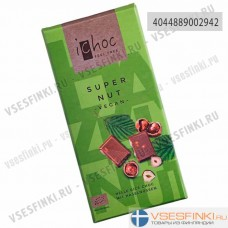 Шоколад Ichoc органический 80 гр. (орехи)