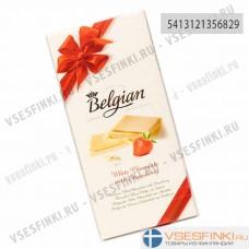 Шоколад Belgian белый с клубникой 100г