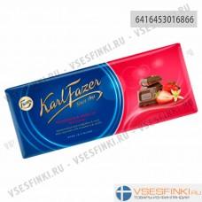 Шоколад Fazer с клубникой и натуральной ванилью 190гр