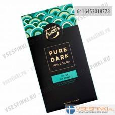 Шоколад Fazer PURE DARK (горький с мятой) 95гр