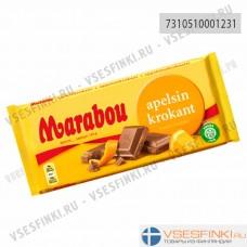 Шоколад Marabou молочный с апельсином 200гр