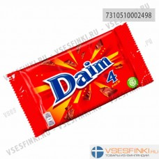 Батончики Daim с карамелью 4x28 гр