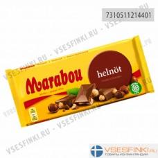 Шоколад Marabou с цельным лесным орехом 200гр
