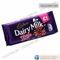 Шоколад Cadbury Daim с хрустящими кусочками миндальной карамели 120гр