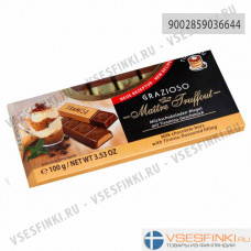 Шоколад Maitre Truffout молочный с начинкой тирамису 100гр
