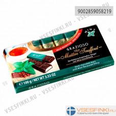 Шоколад Maitre Truffout темный с мятной начинкой 100гр