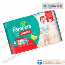 Подгузники-трусики Pampers Pants№4 (9-15кг)  40 шт
