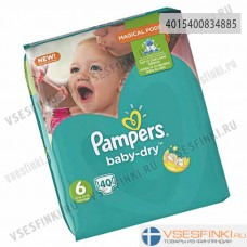 Подгузники Pampers BabyDry №6 (15+кг) 40шт