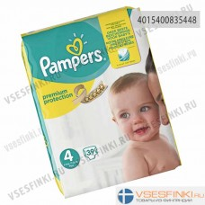 Подгузники Pampers Premium Protection №4 (8-16кг) 39шт