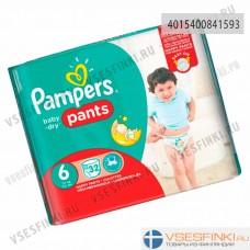 Подгузники-трусики Pampers Pants №6 (15+кг)  32шт
