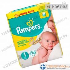 Подгузники Pampers Premium Protection New Baby №1 (2-5кг) 72шт