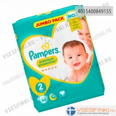 Подгузники Pampers Premium Protection №2 (4-8кг) 68шт