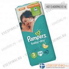 Подгузники Pampers BabyDry №3 (6-10кг) 54шт