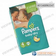 Подгузники Pampers BabyDry №4 (9-14кг) 47шт