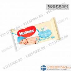 Детские влажные салфетки Huggies Pure 56шт