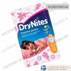 Подгузники-трусики DryNites для девочек 3-5 лет (16-23кг) 16шт