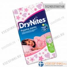 Подгузники-трусики DryNites для девочек 4-7 лет (17-30кг) 16шт