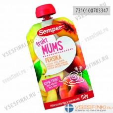 Semper (персик,яблоко,банан) с 6 мес 110гр