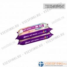 Детские влажные салфетки Libero 2х64 шт