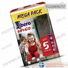 Подгузники-трусики Libero Up&Go №5 (10-14кг) 62шт