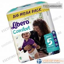 Подгузники Libero Comfort №5 (10-16кг) 100шт