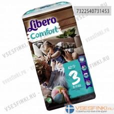 Подгузники Libero Comfort №3 (5-9кг) 62шт