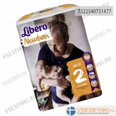 Подгузники Libero Newborn №2 (2-5кг) 88шт