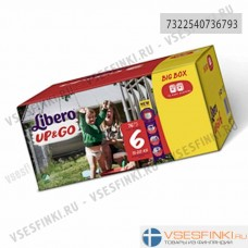 Подгузники-трусики Libero Up&Go №6 (13-20кг) 76шт