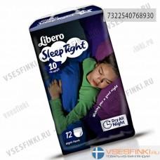 Подгузники-трусики Libero Touch для девочек №10 (35-60кг) 12шт