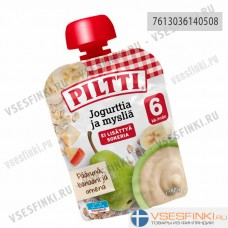 Piltti (яблоко,банан,груша,йогурт) с 6 мес 90гр