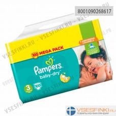 Подгузники Pampers BabyDry №3 (6-10кг) 100шт