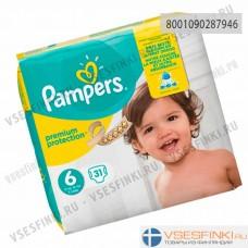 Подгузники Pampers Premium Protection №6 (15+кг) 31шт