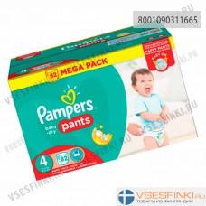 Подгузники-трусики Pampers Pants №4 (9-15кг) 82шт