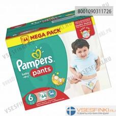 Подгузники-трусики Pampers Pants №6 (15+кг)  64шт