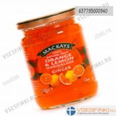Мармелад Mackays (апельсин-лимон-имбирь) 340 гр