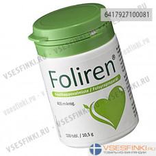 Препарат фолиевой кислоты FOLIREN 400 MIKROG, 100 шт